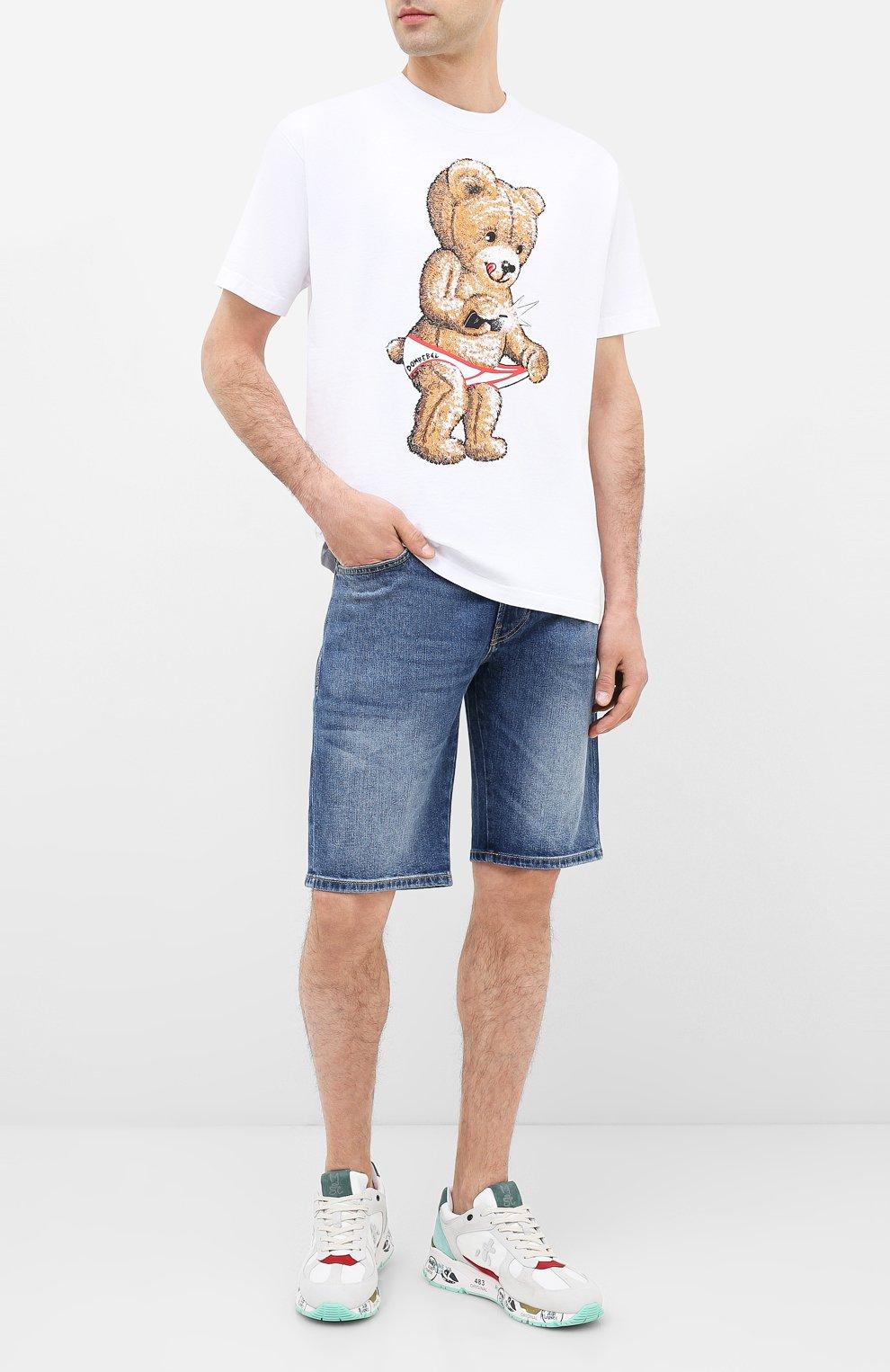 Мужская хлопковая футболка DOM REBEL белого цвета, арт. SNAP/B0X T-SHIRT | Фото 2