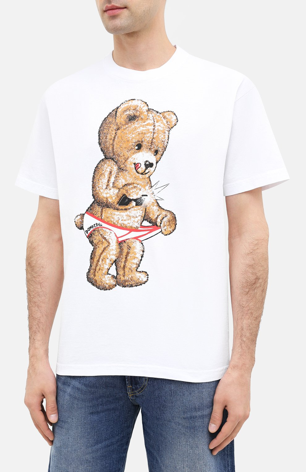 Мужская хлопковая футболка DOM REBEL белого цвета, арт. SNAP/B0X T-SHIRT | Фото 3