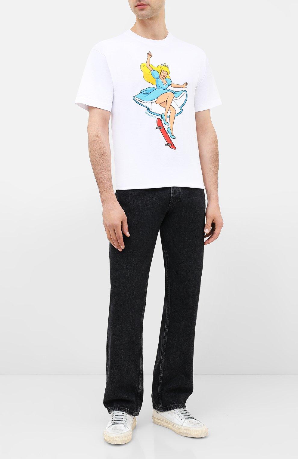 Мужская хлопковая футболка DOM REBEL белого цвета, арт. SKATE/B0X T-SHIRT | Фото 2