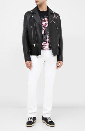 Мужская хлопковая футболка DOM REBEL черного цвета, арт. MIN0U/B0X T-SHIRT | Фото 2