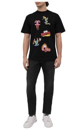 Мужская хлопковая футболка DOM REBEL черного цвета, арт. LUXURY/T-SHIRT | Фото 2