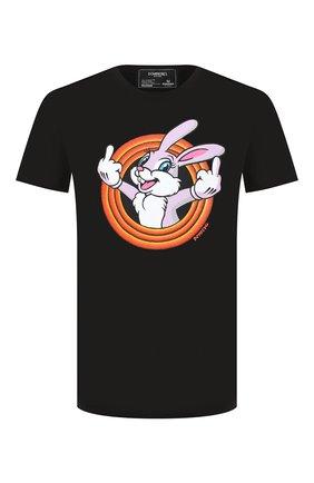 Мужская хлопковая футболка DOM REBEL черного цвета, арт. HUMPER/B0X T-SHIRT | Фото 1