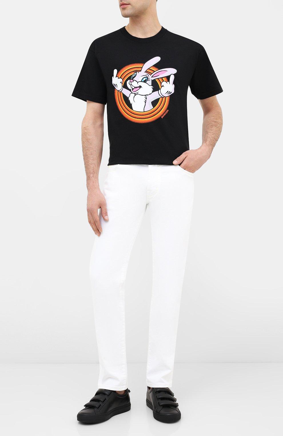 Мужская хлопковая футболка DOM REBEL черного цвета, арт. HUMPER/B0X T-SHIRT | Фото 2