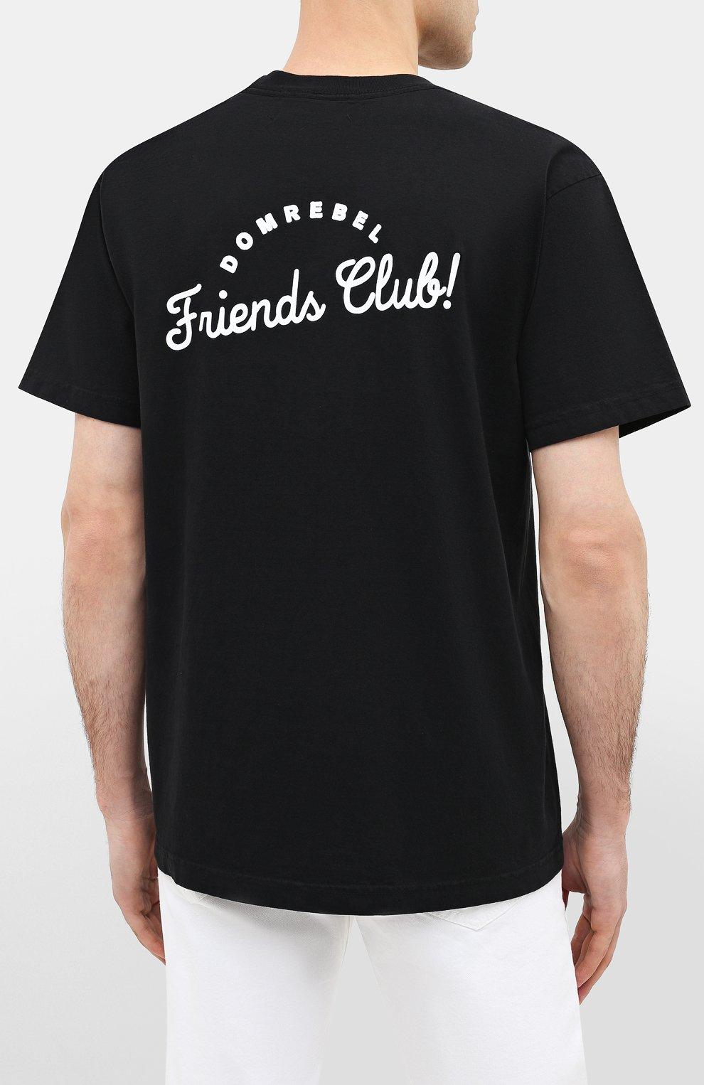 Мужская хлопковая футболка DOM REBEL черного цвета, арт. HUMPER/B0X T-SHIRT | Фото 4