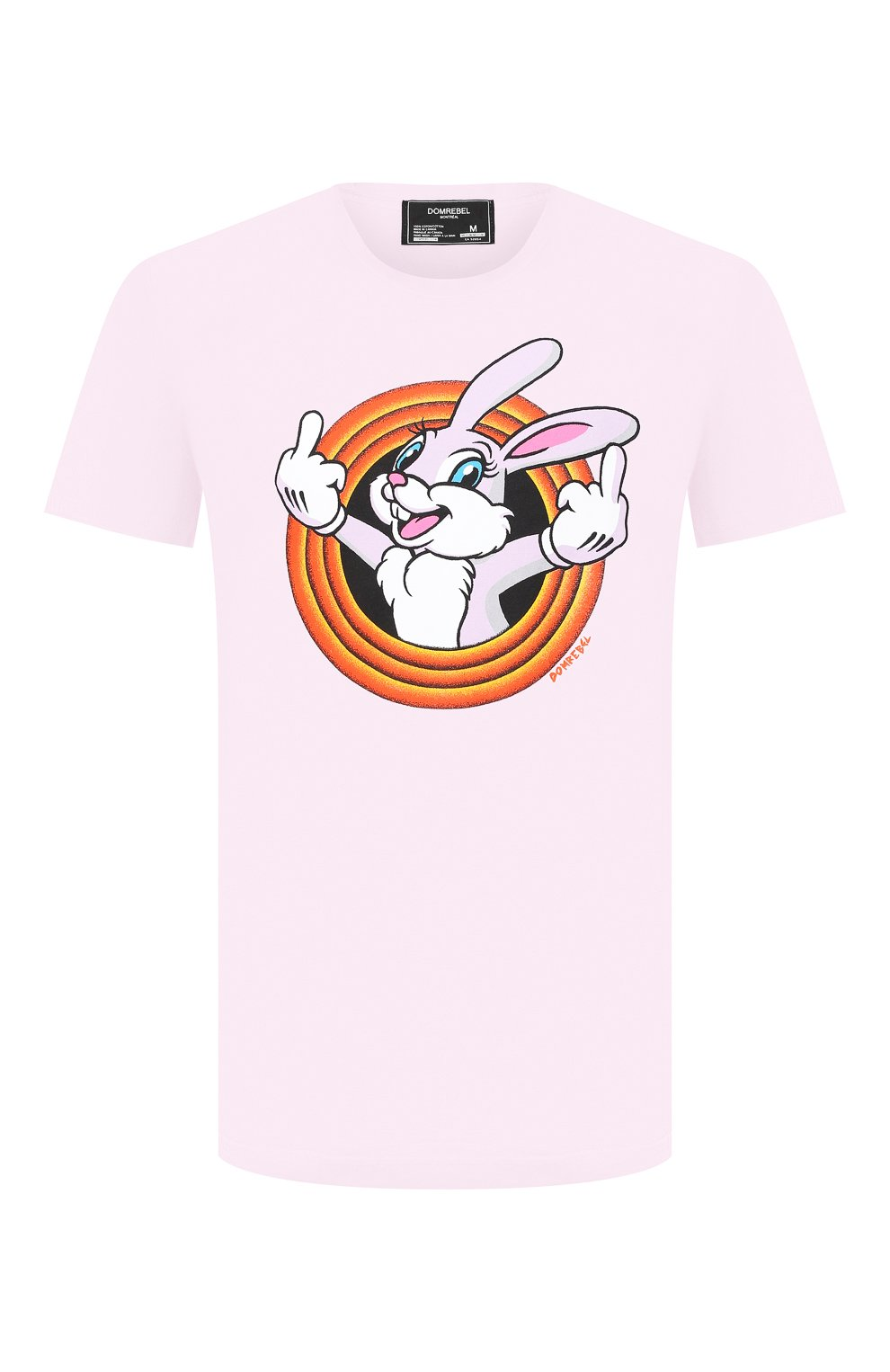 Мужская хлопковая футболка DOM REBEL розового цвета, арт. HUMPER/B0X T-SHIRT   Фото 1