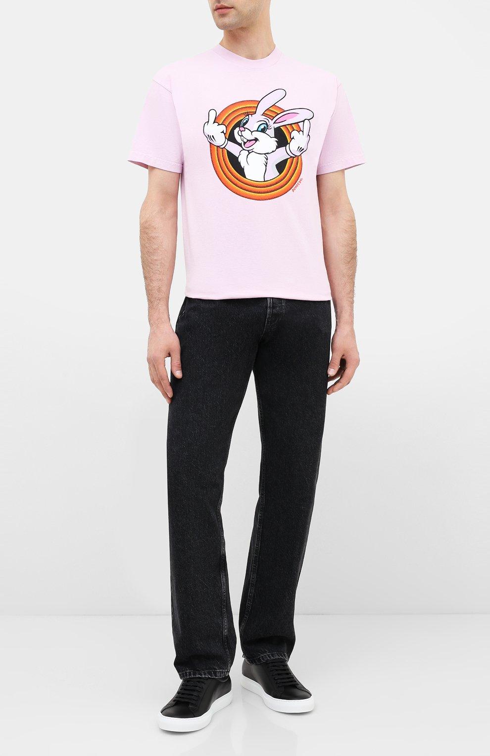 Мужская хлопковая футболка DOM REBEL розового цвета, арт. HUMPER/B0X T-SHIRT   Фото 2