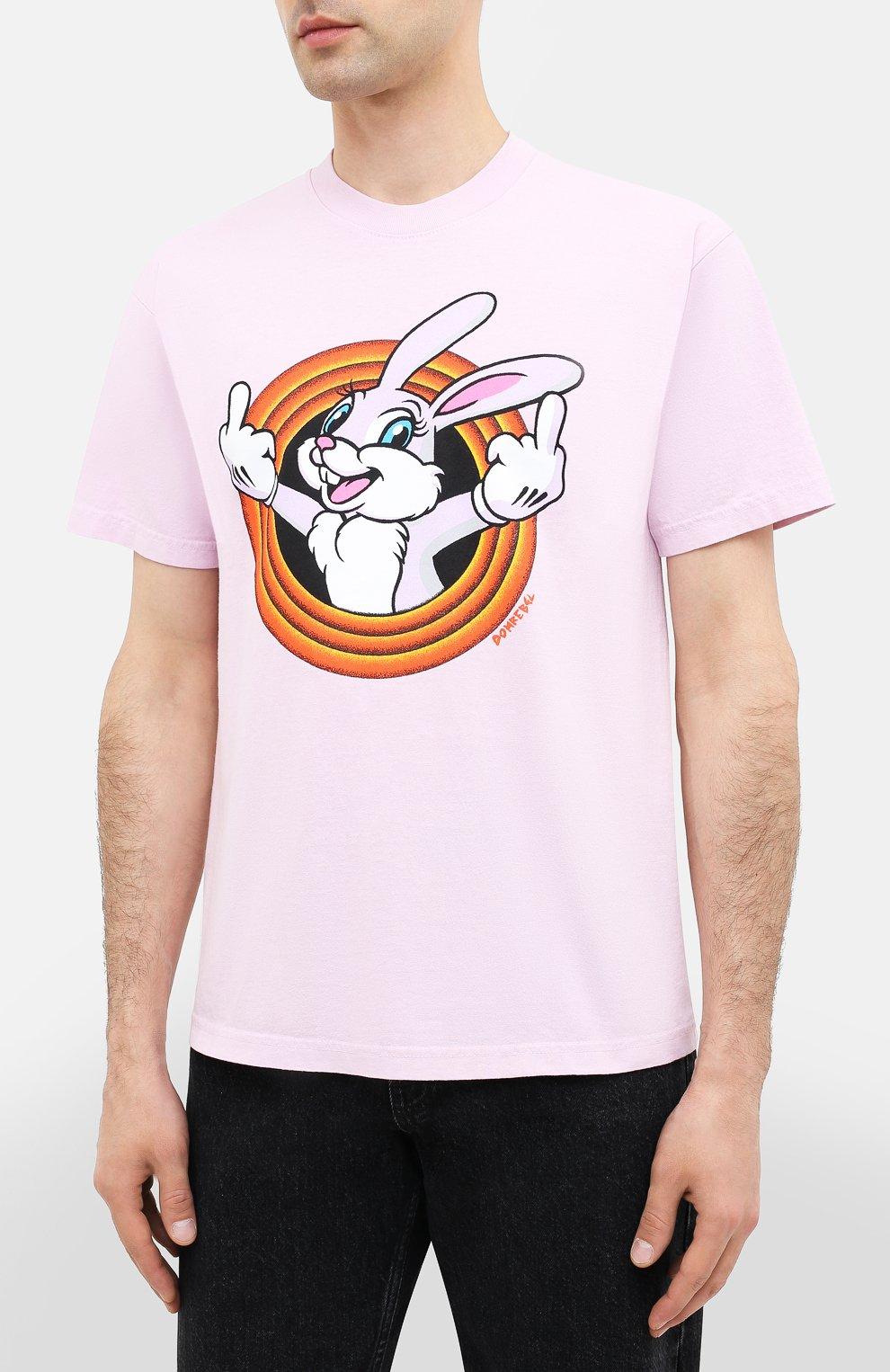 Мужская хлопковая футболка DOM REBEL розового цвета, арт. HUMPER/B0X T-SHIRT   Фото 3