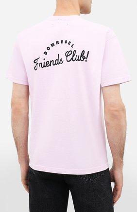 Мужская хлопковая футболка DOM REBEL розового цвета, арт. HUMPER/B0X T-SHIRT   Фото 4
