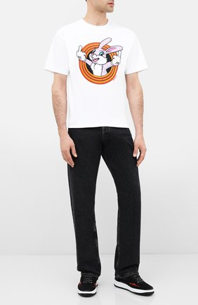 Мужская хлопковая футболка DOM REBEL белого цвета, арт. HUMPER/B0X T-SHIRT | Фото 2