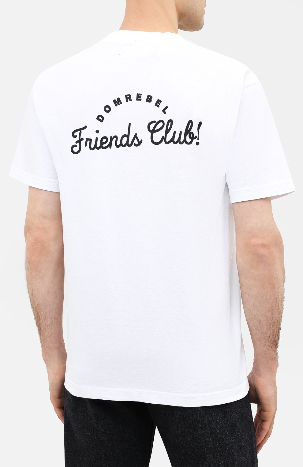 Мужская хлопковая футболка DOM REBEL белого цвета, арт. HUMPER/B0X T-SHIRT | Фото 4