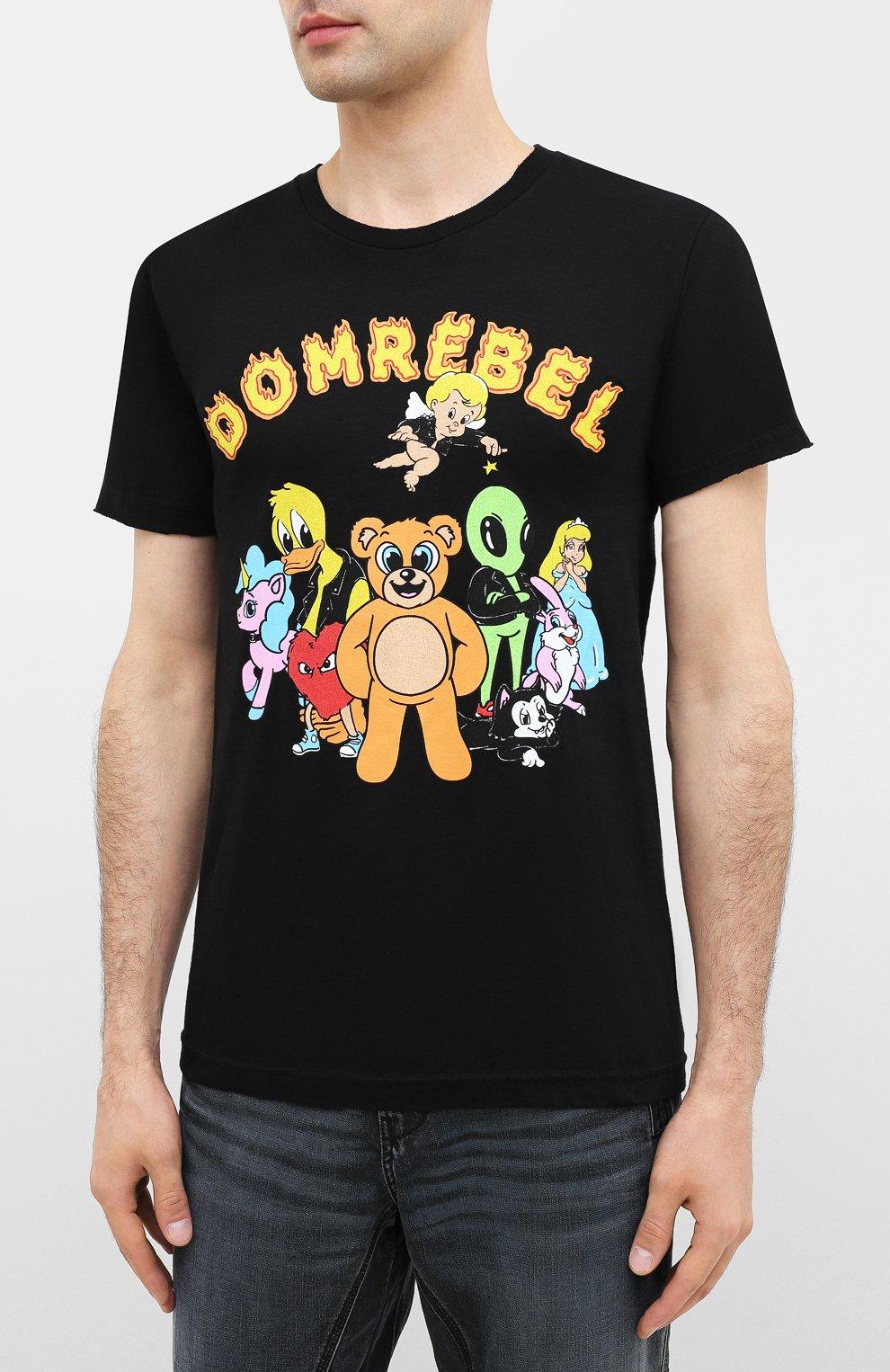 Мужская хлопковая футболка DOM REBEL черного цвета, арт. CLUB/T-SHIRT   Фото 3