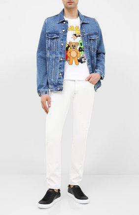 Мужская хлопковая футболка DOM REBEL белого цвета, арт. CLUB/T-SHIRT | Фото 2