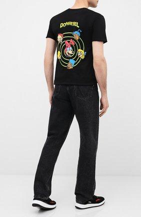 Мужская хлопковая футболка DOM REBEL черного цвета, арт. CEREAL/T-SHIRT | Фото 2