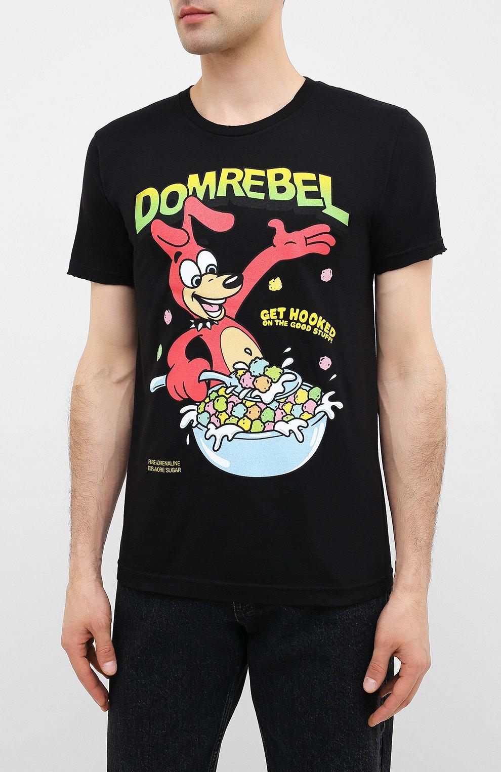 Мужская хлопковая футболка DOM REBEL черного цвета, арт. CEREAL/T-SHIRT | Фото 3