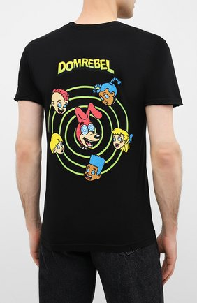 Мужская хлопковая футболка DOM REBEL черного цвета, арт. CEREAL/T-SHIRT | Фото 4