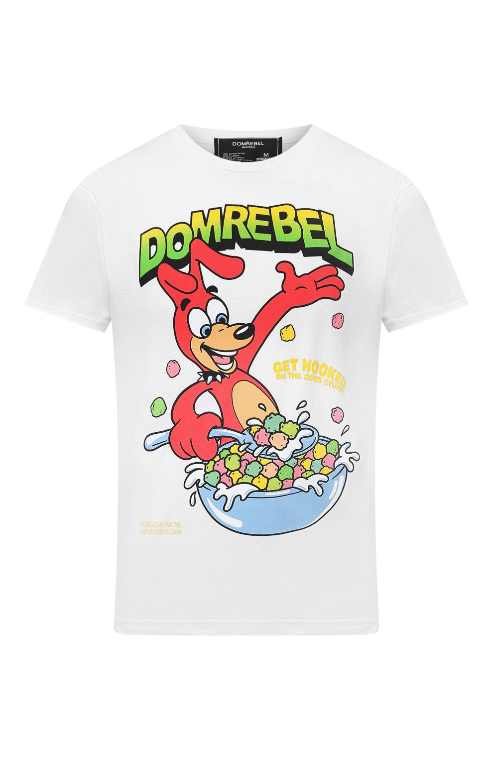 Мужская хлопковая футболка DOM REBEL белого цвета, арт. CEREAL/T-SHIRT | Фото 1