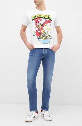 Мужская хлопковая футболка DOM REBEL белого цвета, арт. CEREAL/T-SHIRT | Фото 2