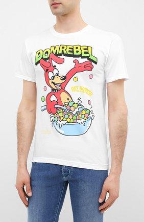 Мужская хлопковая футболка DOM REBEL белого цвета, арт. CEREAL/T-SHIRT | Фото 3