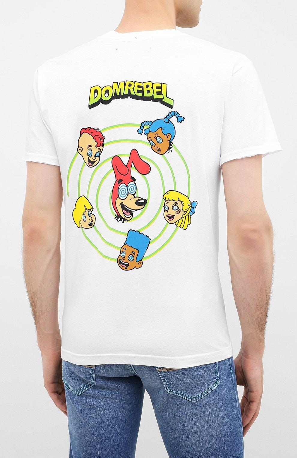Мужская хлопковая футболка DOM REBEL белого цвета, арт. CEREAL/T-SHIRT | Фото 4
