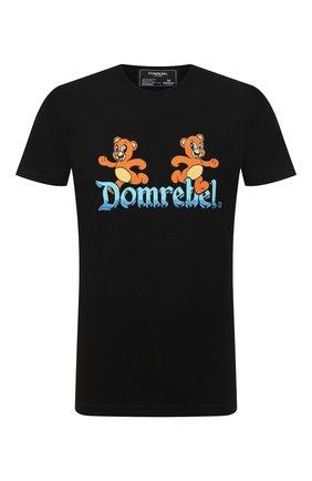Мужская хлопковая футболка DOM REBEL черного цвета, арт. CASTLE/T-SHIRT | Фото 1