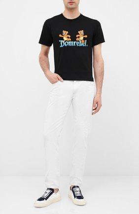 Мужская хлопковая футболка DOM REBEL черного цвета, арт. CASTLE/T-SHIRT | Фото 2