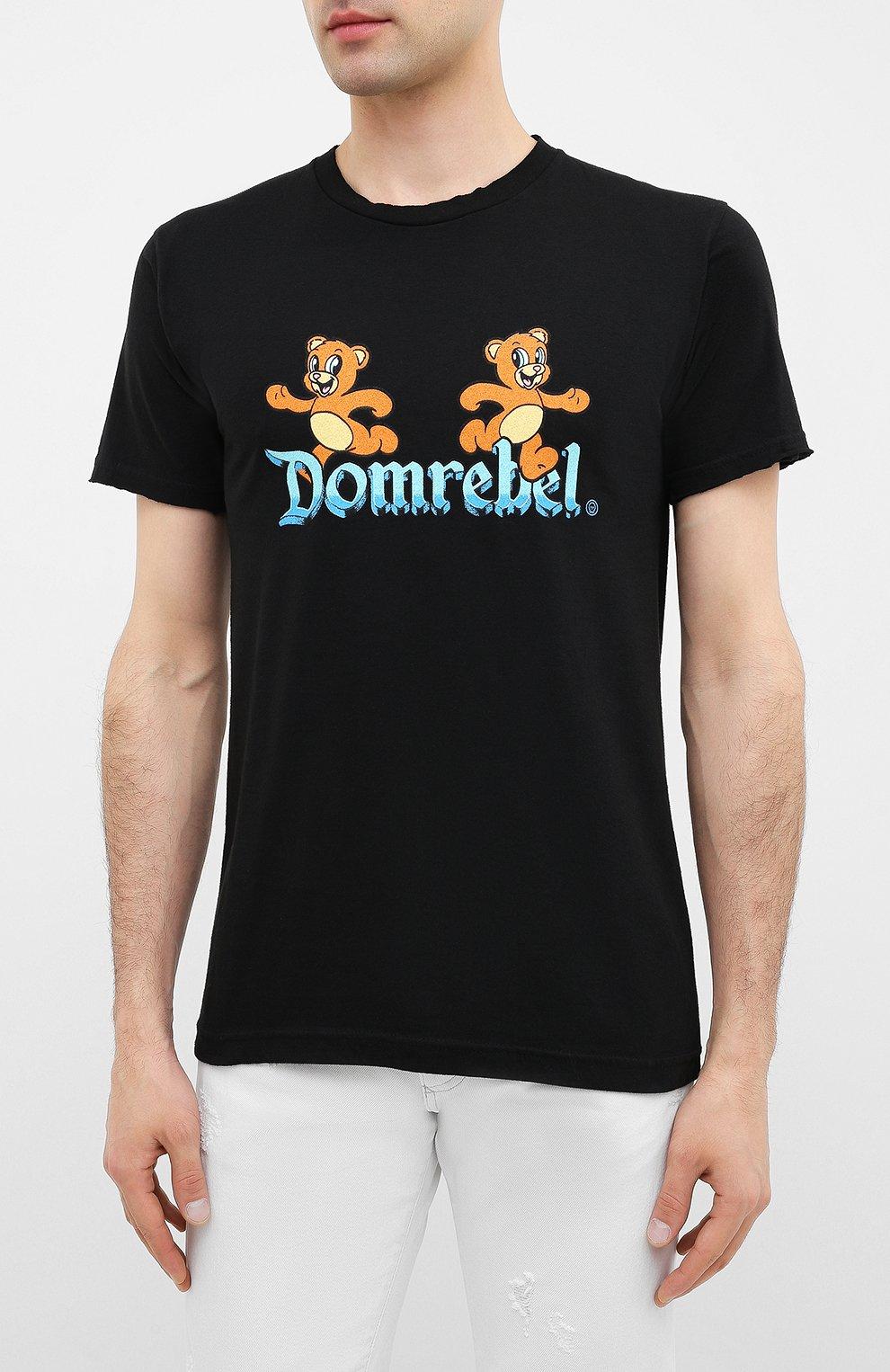 Мужская хлопковая футболка DOM REBEL черного цвета, арт. CASTLE/T-SHIRT | Фото 3