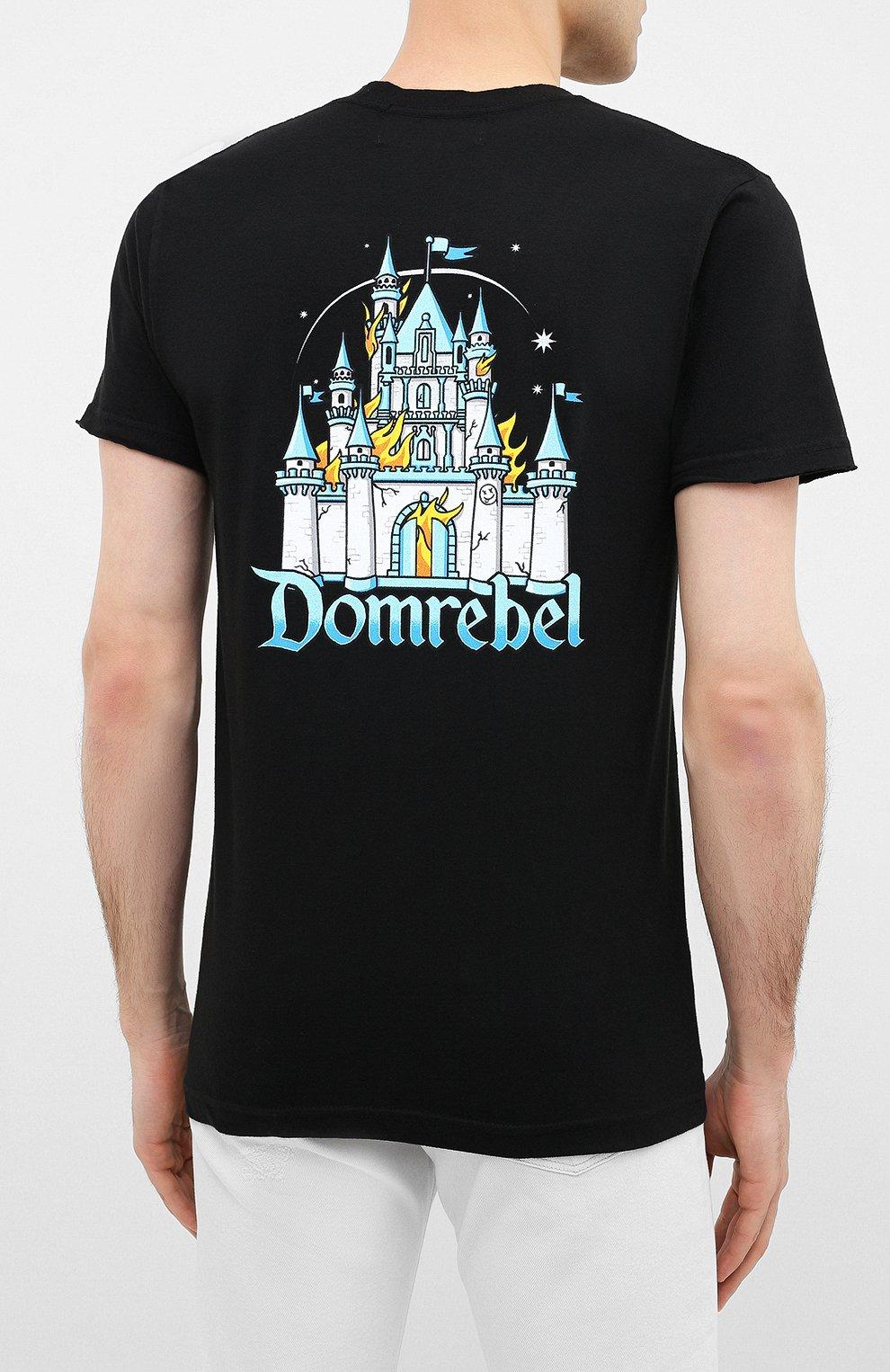 Мужская хлопковая футболка DOM REBEL черного цвета, арт. CASTLE/T-SHIRT | Фото 4