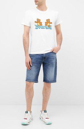 Мужская хлопковая футболка DOM REBEL белого цвета, арт. CASTLE/T-SHIRT | Фото 2