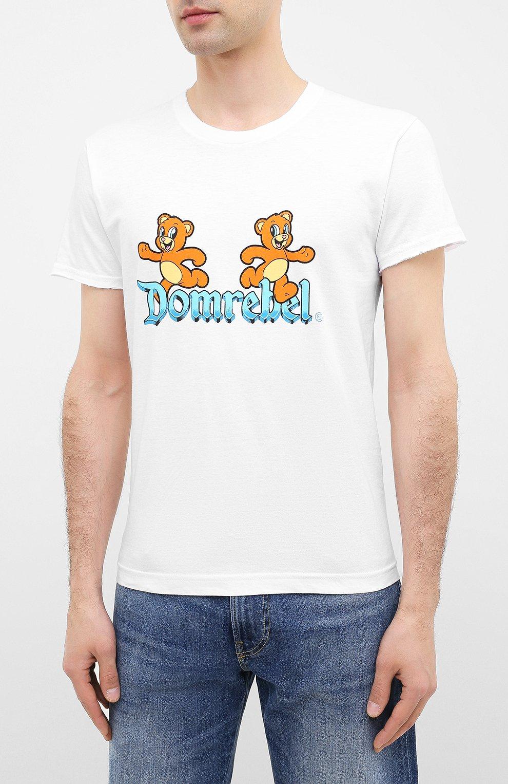 Мужская хлопковая футболка DOM REBEL белого цвета, арт. CASTLE/T-SHIRT | Фото 3