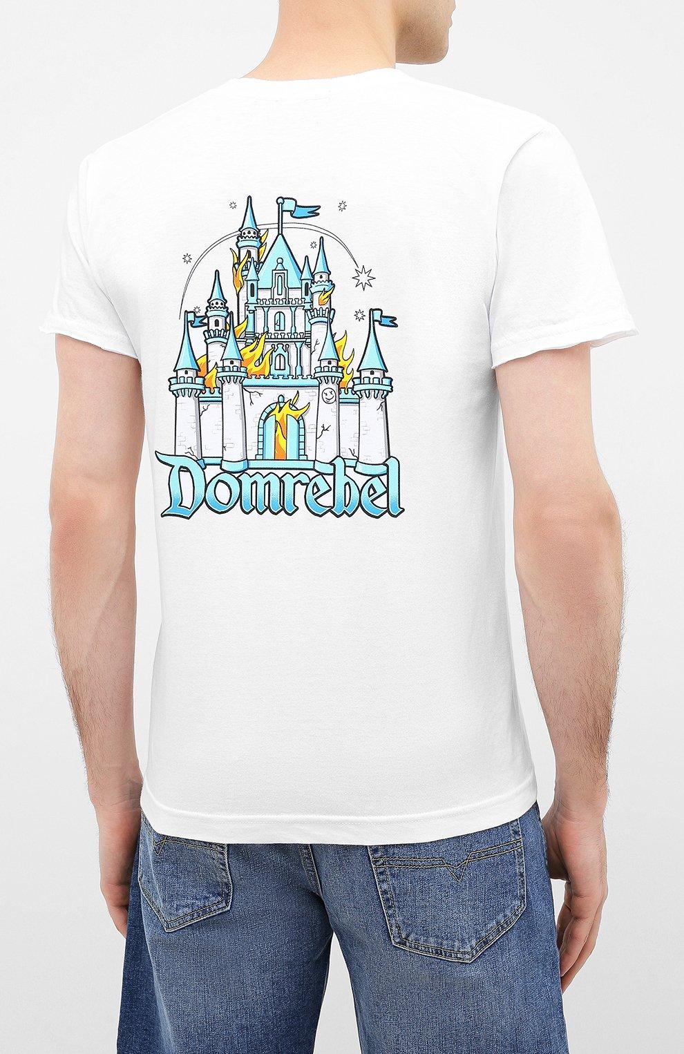 Мужская хлопковая футболка DOM REBEL белого цвета, арт. CASTLE/T-SHIRT | Фото 4