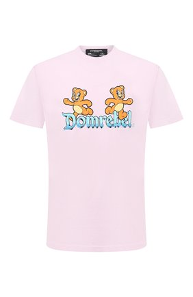 Мужская хлопковая футболка DOM REBEL розового цвета, арт. CASTLE/B0X T-SHIRT | Фото 1