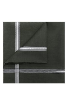 Мужской хлопковый платок SIMONNOT-GODARD зеленого цвета, арт. CHEVR0N/SATIN | Фото 1