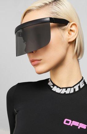 Женские солнцезащитные очки MYKITA черного цвета, арт. DAISUKE/PITCHBLACK/DARKGREY | Фото 2 (Тип очков: С/з)