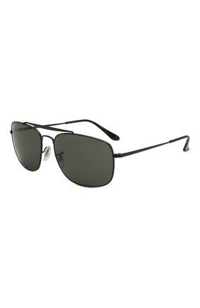 Мужские солнцезащитные очки RAY-BAN черного цвета, арт. 3560-002/58 | Фото 1