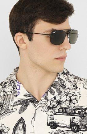 Мужские солнцезащитные очки RAY-BAN черного цвета, арт. 3560-002/58 | Фото 2