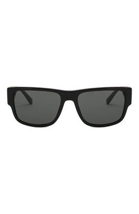Мужские солнцезащитные очки VERSACE черного цвета, арт. 4369-GB1/87 | Фото 3