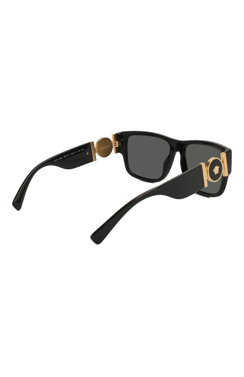 Мужские солнцезащитные очки VERSACE черного цвета, арт. 4369-GB1/87 | Фото 4
