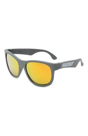 Детского солнцезащитные очки BABIATORS серого цвета, арт. BLU-009 | Фото 1