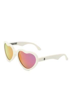 Детского солнцезащитные очки BABIATORS белого цвета, арт. BLU-016 | Фото 1