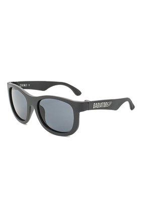 Детского солнцезащитные очки BABIATORS черного цвета, арт. NAV-009 | Фото 1