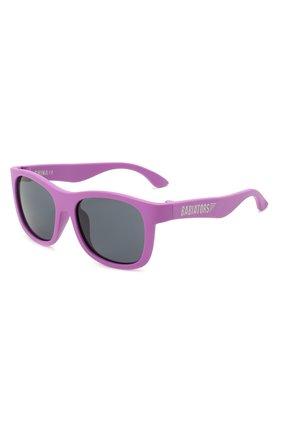 Детского солнцезащитные очки BABIATORS фиолетового цвета, арт. NAV-006 | Фото 1