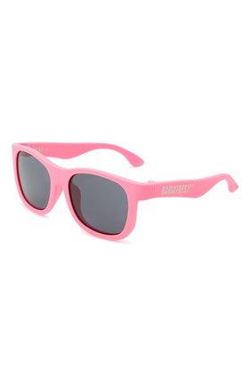 Детского солнцезащитные очки BABIATORS розового цвета, арт. NAV-008 | Фото 1