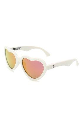 Детского солнцезащитные очки BABIATORS белого цвета, арт. BLU-015 | Фото 1