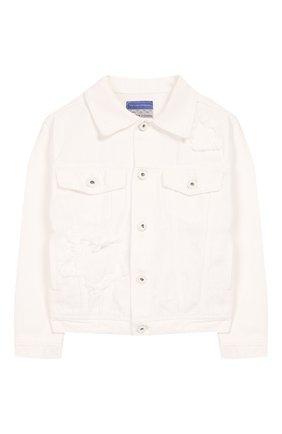 Детская джинсовая куртка JACOB COHEN белого цвета, арт. J9009 J-10008-W1 | Фото 1