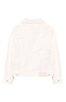 Детская джинсовая куртка JACOB COHEN белого цвета, арт. J9009 J-10008-W1 | Фото 2
