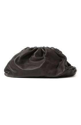 Женский клатч pouch BOTTEGA VENETA темно-коричневого цвета, арт. 576227/VCP40 | Фото 1 (Материал: Натуральная кожа; Размер: medium; Женское Кросс-КТ: Клатч-клатчи)