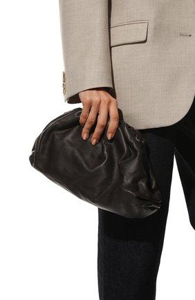 Женский клатч pouch BOTTEGA VENETA темно-коричневого цвета, арт. 576227/VCP40 | Фото 2