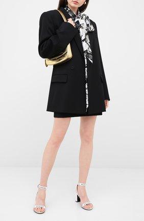 Женские кожаные босоножки round BALENCIAGA белого цвета, арт. 564433/WBAE1 | Фото 2