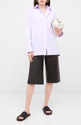 Женские кожаные шлепанцы BOTTEGA VENETA темно-коричневого цвета, арт. 620298/VBTR0 | Фото 2
