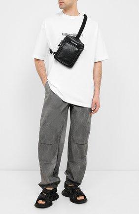 Мужская кожаная сумка-мессенджер explorer BALENCIAGA черного цвета, арт. 620260/DB5J5 | Фото 2